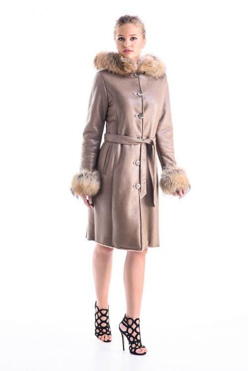 Palton din blană de miel și vulpe 102 GVP 1