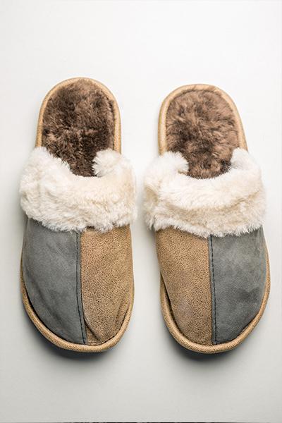 papuci de casa din blana
