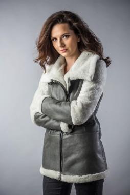 haina de blana gri