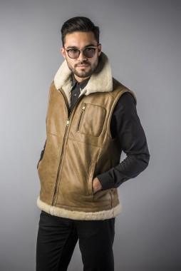 vesta de blana barbati maro deschis (3)