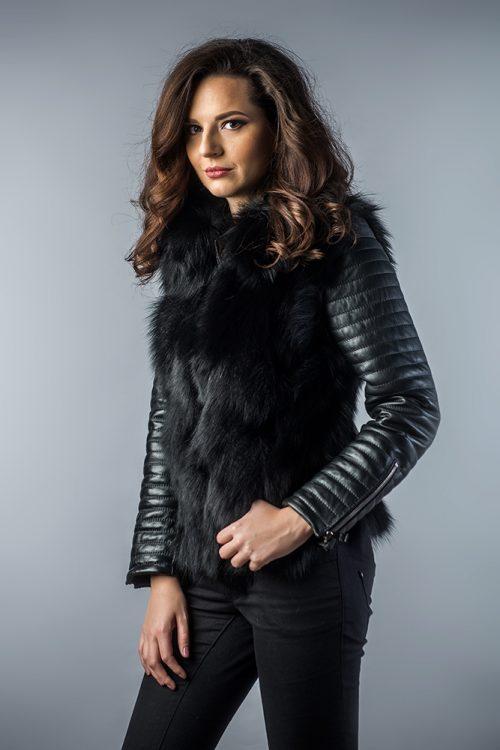 Jachetă din blana de vulpe 280 1