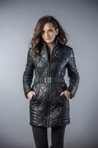 Palton din piele femei negru Erma11 (1)