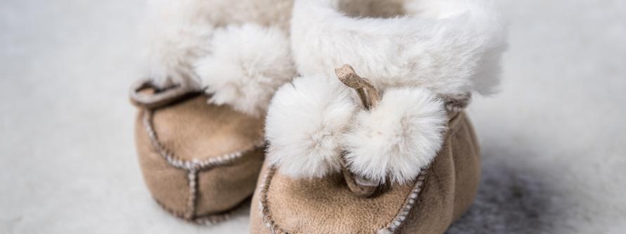papuci de blana pentru copii