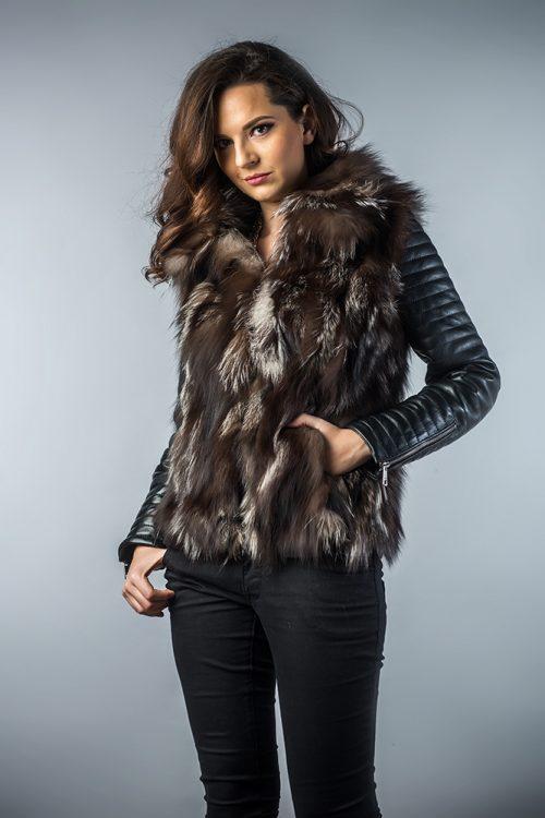 Jachetă din blana de vulpe 280 2
