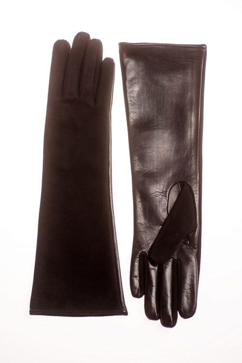 Mănuși de damă lungi, confectionate din piele naturală M101 2