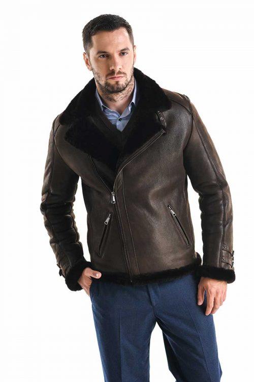 Jacheta din blană de miel 353 1