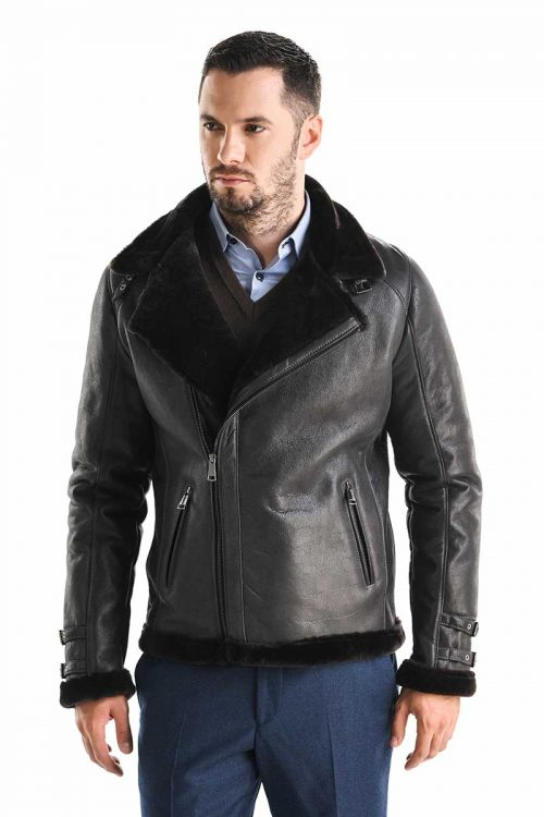 Jacheta din blană de miel 353 2