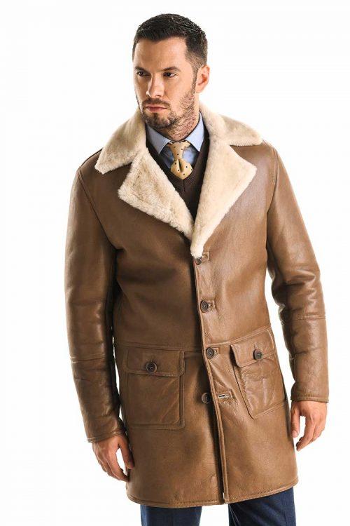 Palton din blană de miel 355 2
