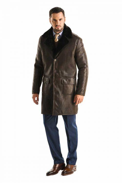 Palton din blană de miel 355 1