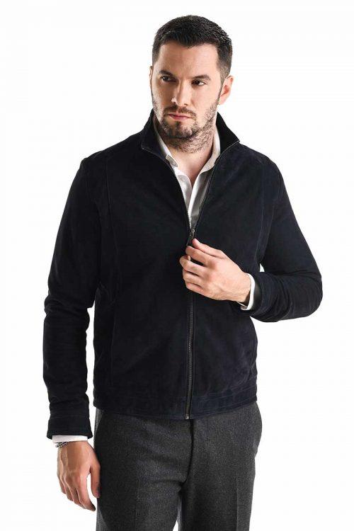 Jachetă de piele velur 3015 1