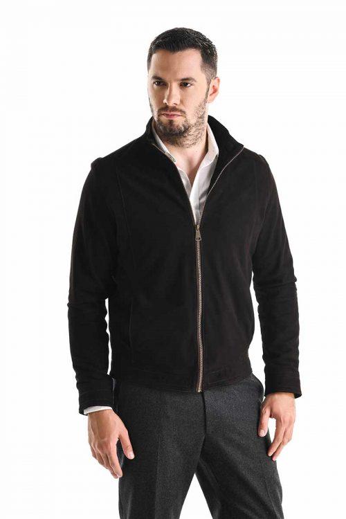 Jachetă de piele velur 3015 2