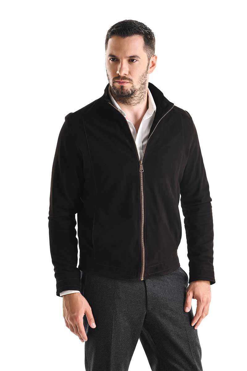 Jachetă de piele velur 3015 thumbnail
