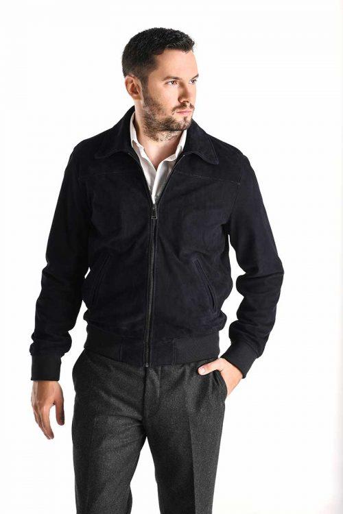 Jachetă de piele velur 3016 1