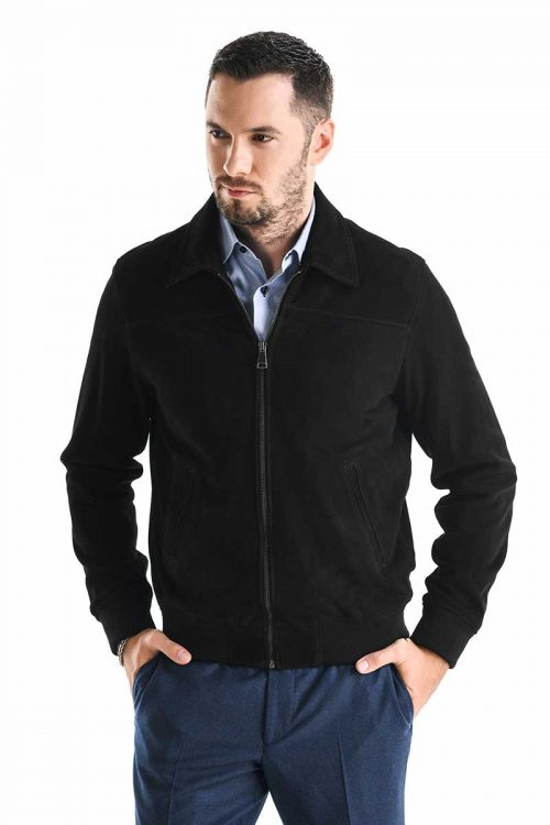 Jachetă de piele velur 3016 2