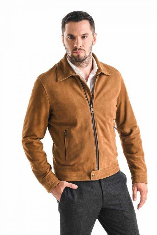 Jachetă de piele velur 3014 1