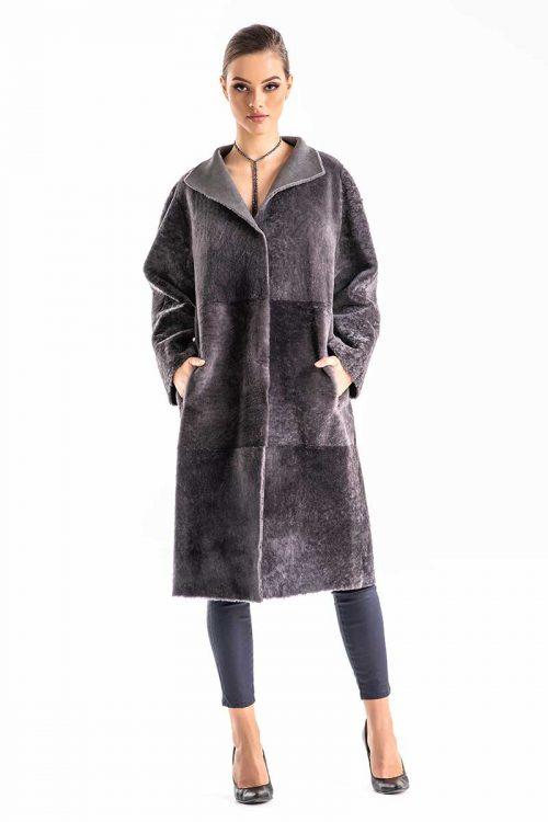 Palton din blana de miel reversibil 2004 1