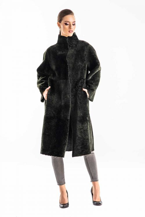 Palton din blana de miel reversibil 2004 2