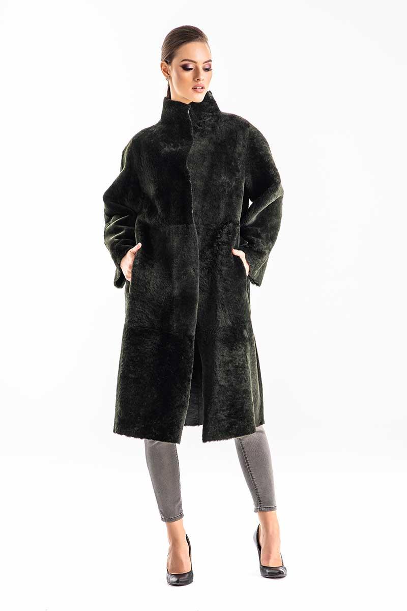 Palton din blana de miel reversibil 2004
