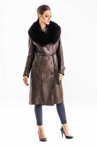 Palton din blană de vulpe