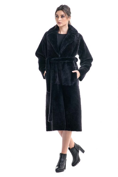 Palton din blană de miel reversibil 2007 1