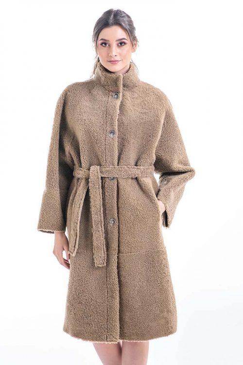 Palton din blană de miel reversibil 2012 1