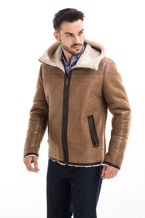 Jachetă din blană de miel 358 2
