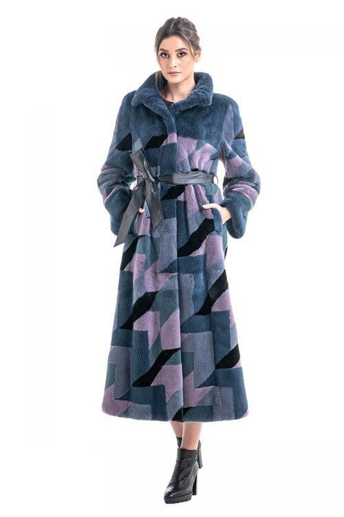 Palton din blană de nurcă HE006 1