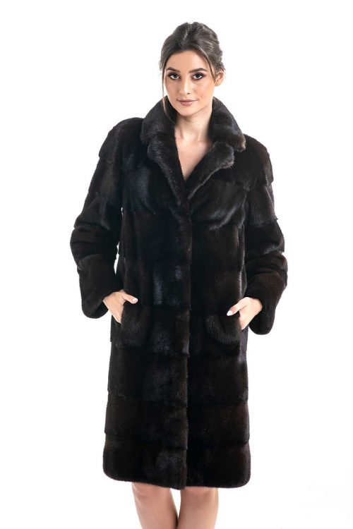 Palton din blană de nurcă HM019 1