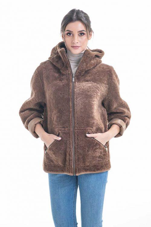 Jachetă din blană de miel reversibilă 2011 1