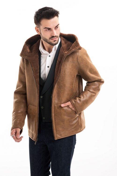 Jachetă din blană de miel reversibilă 360 1