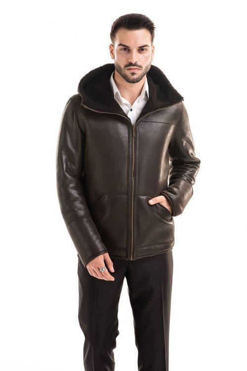 Jachetă din blană de miel reversibilă 360 2