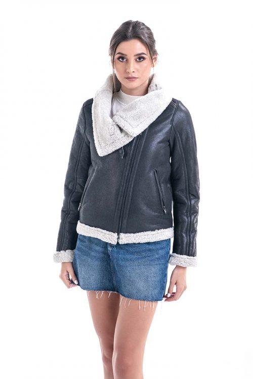 Jacheta din blană de miel 2013 1